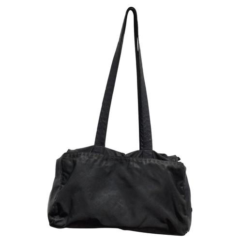 976e992bdee405 Prada Handbag Canvas in Black - Second Hand Prada Handbag Canvas in ...