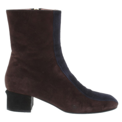 Marni Suede Ankle Boots in bicolor