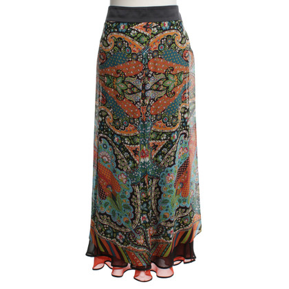 Etro Silk skirt with pattern