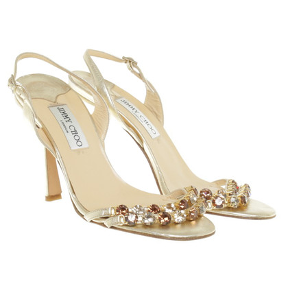 Jimmy Choo Sandals with semi-precious stones