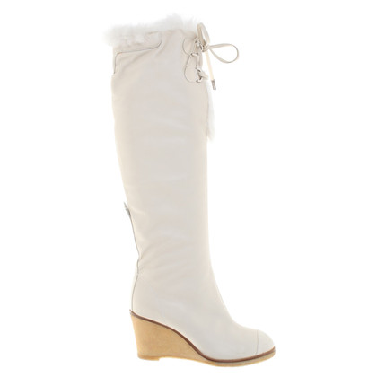 Chanel Boots in cream