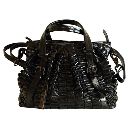 Burberry Handbag in black patent leather