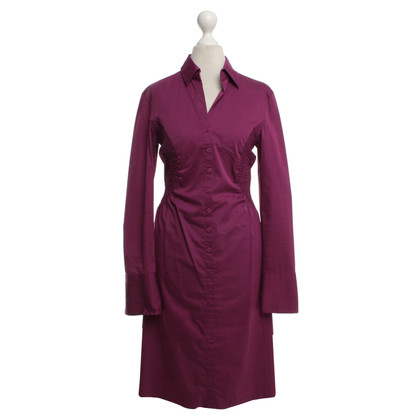 René Lezard Blouse dress in fuchsia