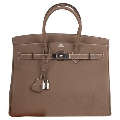 "Hermès ""Birkin Bag 35 Togo leather Étoupe"""