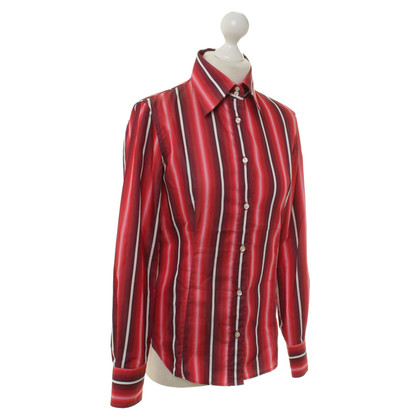Etro Red blouse with stripes
