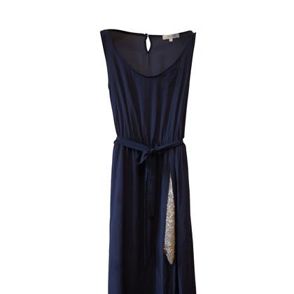 Céline Seidenkleid mit Pailletten-Unterrock