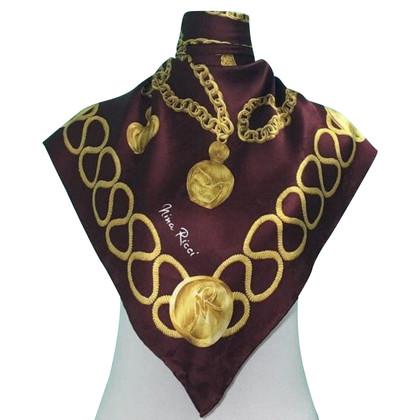 Nina Ricci  Nina Ricci zijden sjaal handrolled