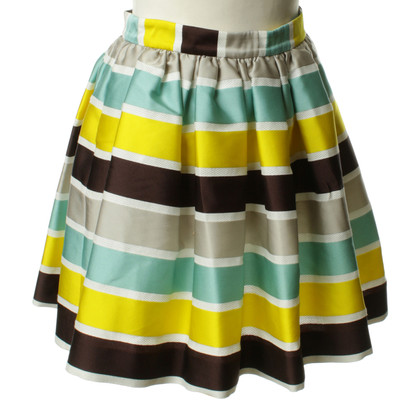 MSGM skirt with stripe pattern