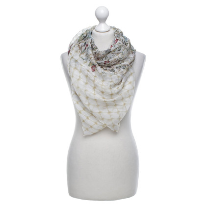 Alexander McQueen Silk scarf with pattern mix