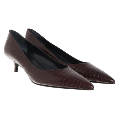 Pollini pumps in reptile look