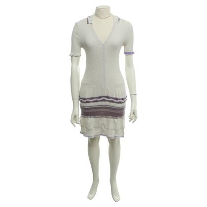 Marithé et Francois Girbaud Cream dress with lurex yarn