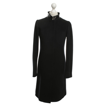 Jil Sander Cashmere coat in dark blue