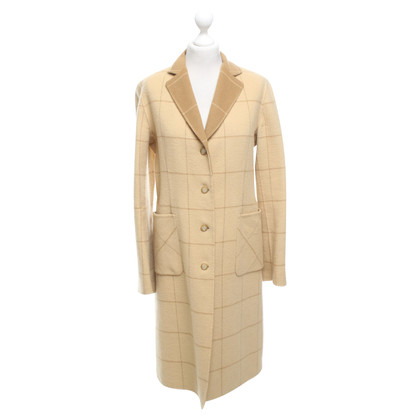 DKNY Cappotto in lana beige