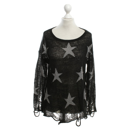 Wildfox Destroyed Pullover in Bicolor