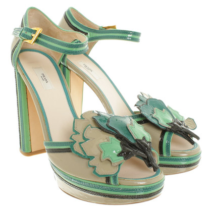 Prada Sandals in grey / Green