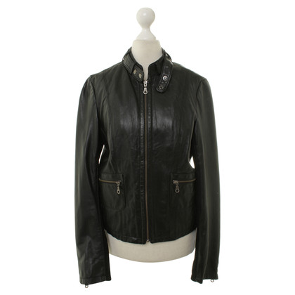 Bruuns Bazaar Black leather jacket