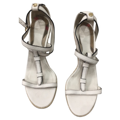 Burberry Wedges en blanc