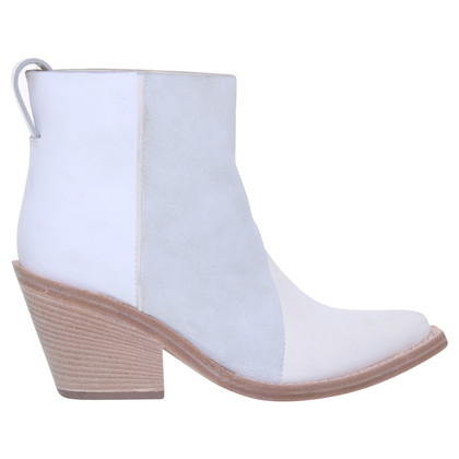 Acne Ankle boots in cream
