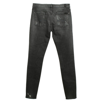 7 For All Mankind Skinny jeans gris