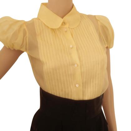 Escada Yellow silk blouse