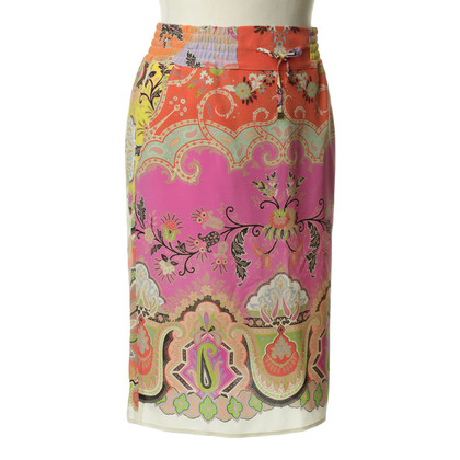 Etro Colorful silk skirt