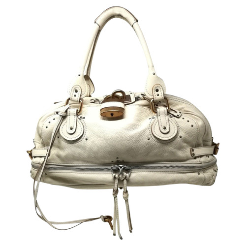 f083fc0e1d2 Chloé Paddington Bag Leather in White - Second Hand Chloé Paddington ...
