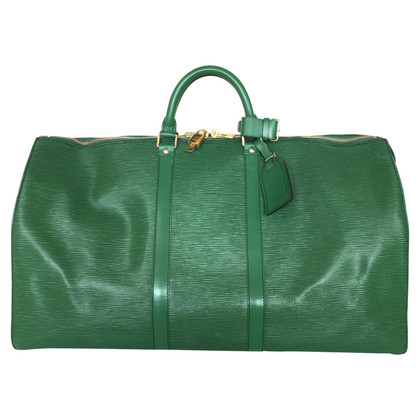 "Louis Vuitton ""Keepall 55 Epi Leather"" in green"
