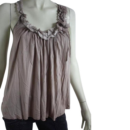 Ted Baker Soft grey top with silk details