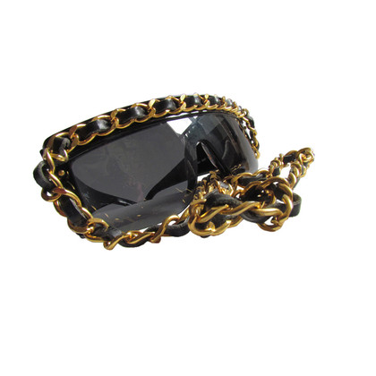 Chanel CHANEL Lady GAGA - La Chaîne - leather & chain chain glasses sunglasses ultra rare