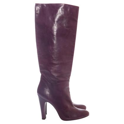 Pedro Garcia purple leather boots