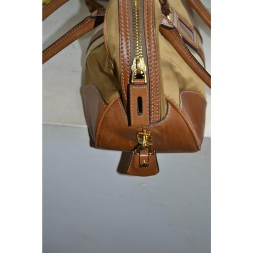 3081b80aaf21e Prada Tasche aus Leder und Leinen - Second Hand Prada Tasche aus ...