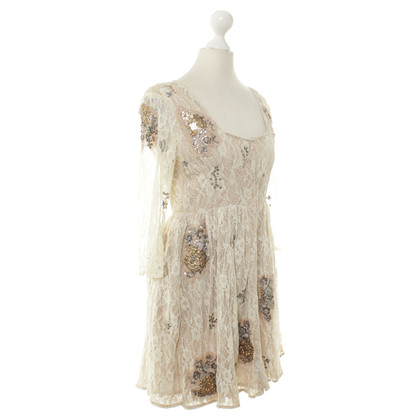 Topshop Lace dress in cream
