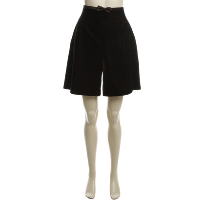 Escada Velvet shorts in dark brown