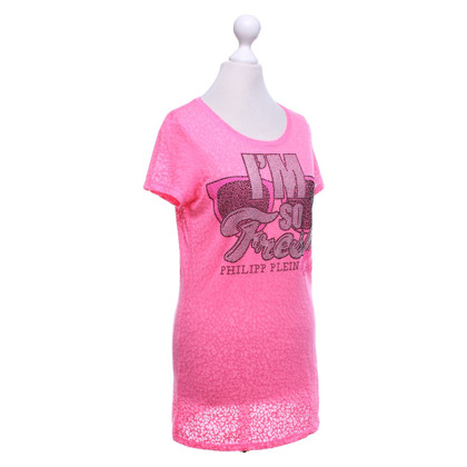 Philipp Plein T-shirt in neon pink