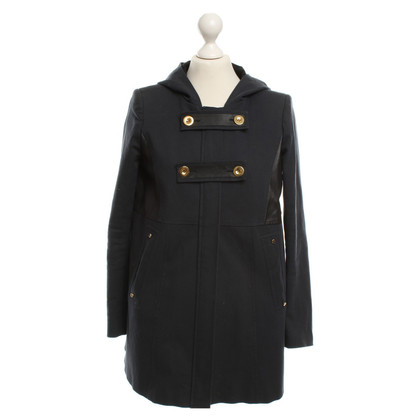 Maje Knielanger coat in blue