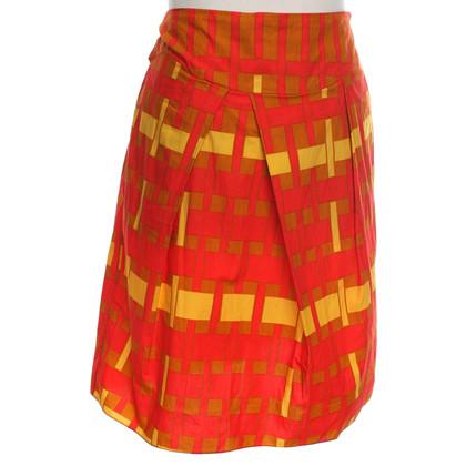 Marni skirt in red / yellow