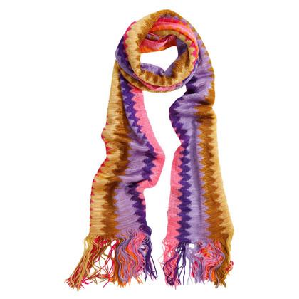 Missoni Echarpe multicolore avec franges