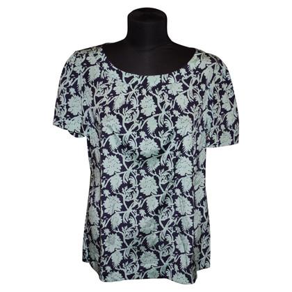 Tory Burch Silk Spa sleeve blouse with print