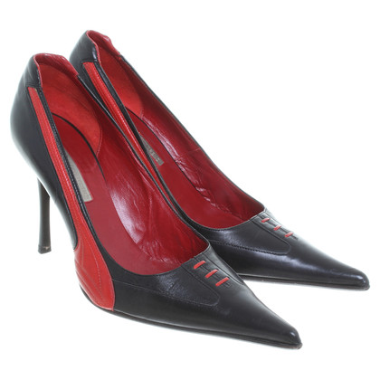 Gianmarco Lorenzi Pumps in Schwarz/Rot