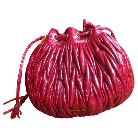 Rabatt Angebote Miu Miu Beuteltasche Rot Billig Verkauf Bestseller Factory-Outlet-Verkauf sqHMjB