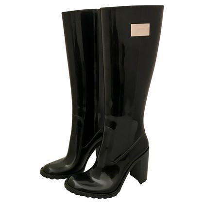 Armani Collezioni Bottes de pluie en noir