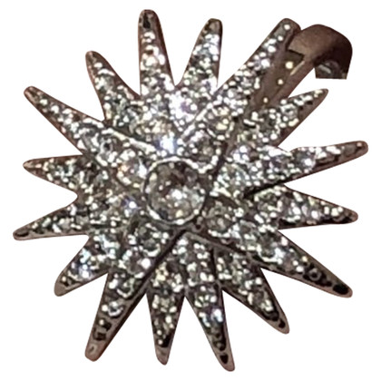 Swarovski Silver-colored ring with rhinestone trim