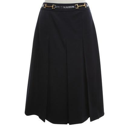 Céline Pleated skirt in dark blue