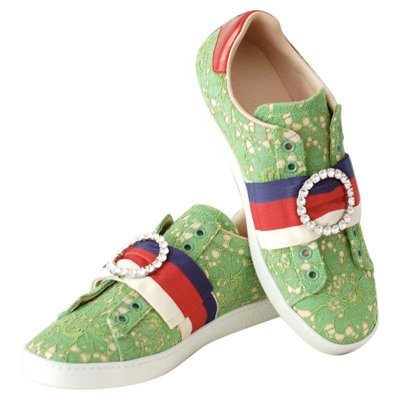 Gucci Trainers in Green - Second Hand