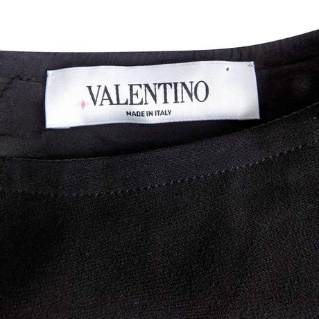 Valentino Bluse mit Gürtel Schwarz Steckdose Exklusive Rabatt Zahlen Mit Paypal Gutes Verkauf Günstig Online Vorbestellung L6BLRn60c