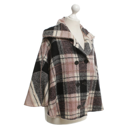 Marc Cain Cape with check pattern