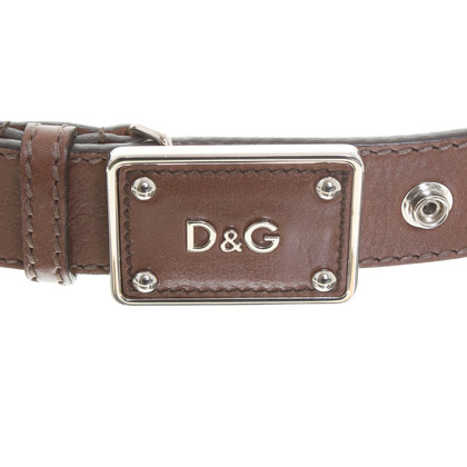 D&G Belt in logo letters