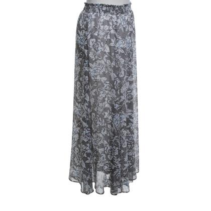 Twin-Set Simona Barbieri Langer skirt in White / grey