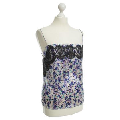 Dolce & Gabbana Zijden top met bloemmotief