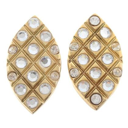 Yves Saint Laurent Clip earrings with Rhinestones